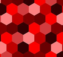 Red Hexagon Pattern Design  by Sookiesooker