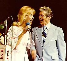 Karen Wheeler my cousen on stage with Roy Acuff on the Grand Old Opry in Nashville Tenn by candy