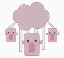 Cloud Monsters T-shirt by YamadaHachiko