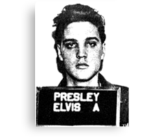 Elvis Mugshot Canvas Print