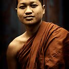 Phnom Penh monk by Anthony Begovic