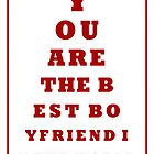 Valentines Eye Chart Card by TinaGraphics
