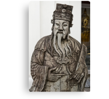 Cheeky Chinese Statue and Golden Buddha Canvas Print