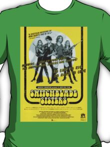 Switchblade Sisters (Yellow) T-Shirt