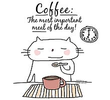 Coffee : The most important meal of the day! / Cat doodle by eyecreate