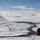 Scottish Highlands in Winter by derekbeattie