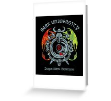 Berk University Greeting Card