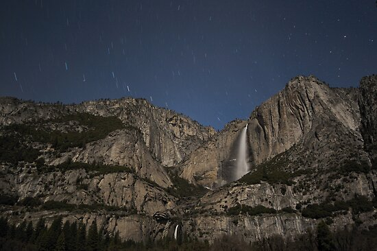 Yosemite Falls By Night by Philip Wong