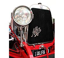 Alfa Romeo G1, 1921, Front End  Photographic Print