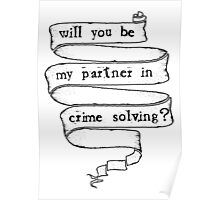 Partner in crime solving Poster