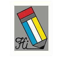 Mondrian: Greeting #2 Art Print