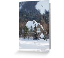 Skiing in the Countryside Greeting Card