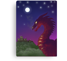 Medieval Dragon Canvas Print
