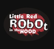 Little Red Robot Logo Tee (RED) by quigonjim