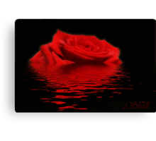 Drowning Rose Canvas Print