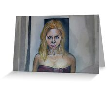 Who Are You? - Buffy/Faith - BtVS Greeting Card