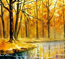 Stream In The Forest — Buy Now Link - www.etsy.com/listing/213447337 by Leonid  Afremov