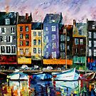 Honfleur, Normandie — Buy Now Link - www.etsy.com/listing/213421085 by Leonid  Afremov