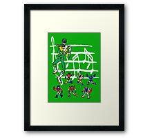 The Green Piper Framed Print