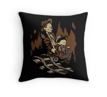 Hold onto your Potatoes, Dr. Hobbes! Throw Pillow