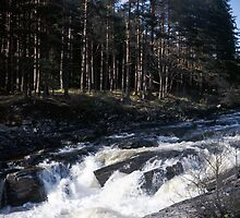 Waterfall in Glen Orchy by PigleT