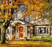 A little house in the fall  by Mike  Savad