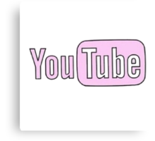 Youtube Logo in PINK! Canvas Print