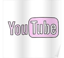 Youtube Logo in PINK! Poster