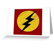 Grunge Lightning Bolt. Greeting Card