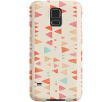 Back & Forth - triangle abstract pattern in peach, aqua & cream Samsung Galaxy Case/Skin