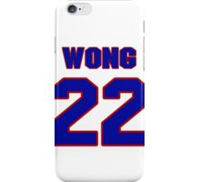 National Hockey player Mike Wong jersey 22 iPhone Case/Skin