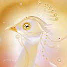 gold bird by Martina Stroebel