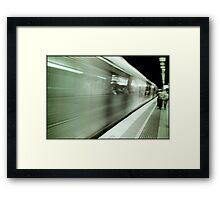 and the train goeth...... Framed Print