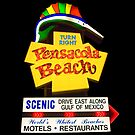 Pensacola Beach Sign by Greg Riegler