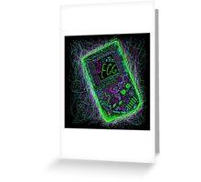 neon punk gameboy Greeting Card