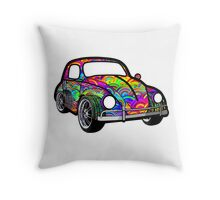 Buggin' - Psychedelic  Throw Pillow