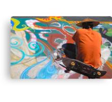 Abstract Skateboarding Canvas Print
