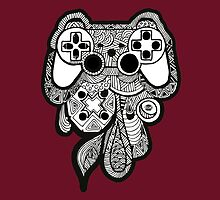 Games Console Zentangle BLACK & WHITE by Tangldltd
