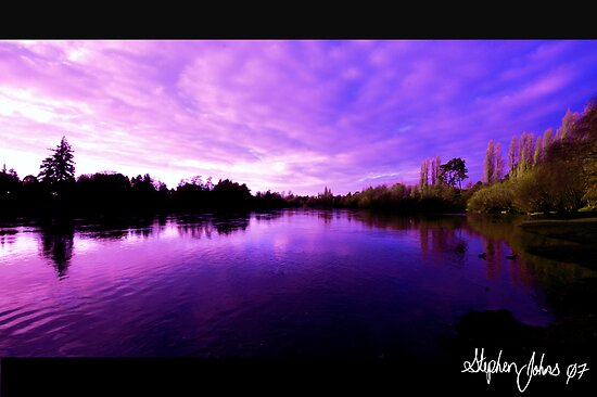 Waikato river Wide by Stephen Johns