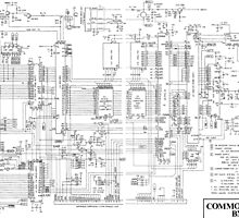 Commodore 64 Printed Circuit Board Diagram  by John Billing