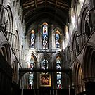 Hexham Abbey, the Nave. by John Dalkin