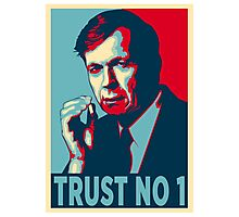 CIGARETTE SMOKING MAN TRUST NO 1 Photographic Print