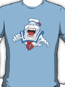Funny Ghostbusters Slimer Stay Puft Marshmallow Man Mash Up T-Shirt