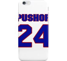 National Hockey player Jamie Pushor jersey 24 iPhone Case/Skin