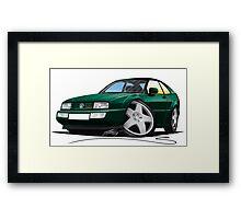 VW Corrado Green Framed Print