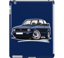 VW Golf (Mk1) Cabriolet Dark Blue iPad Case/Skin