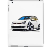 VW Golf GTi (Mk6) White iPad Case/Skin
