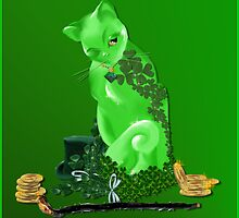 St. Paddys Day Kitty by Lotacats