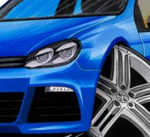 VW Golf R Blue Sticker