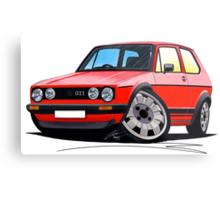 VW Golf GTi (Mk1) Red Metal Print